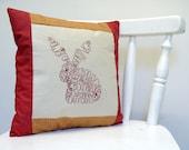 Redwork Bunny Spring Stitchery PDF Pattern