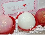 Glitter Valentines Cake Pop Box