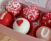 Medium I Heart You Cake Pop BItes Gift Box