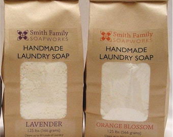 Natural Laundry Soap, 2 Bags, Handmade Laundry Soap, Cleans up to 100 loads of Laundry