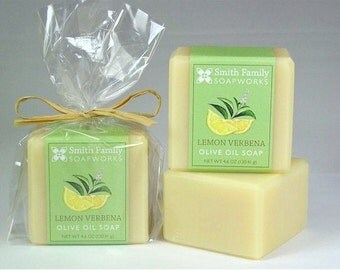 Lemon Verbena Soap, Natural Soap, Olive Oil Soap, Handmade Soap Bar, Cold Process Soap