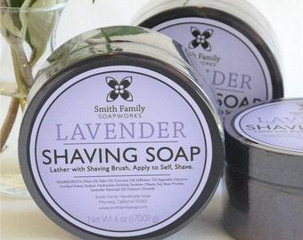 Handmade Shave Soap, Lavender Shaving Soap, Olive Oil Shave Soap