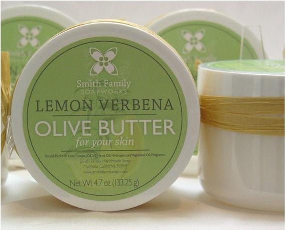 Body Butter, Olive Butter, Lemon Verbena Body Butter, Bridesmade Gift