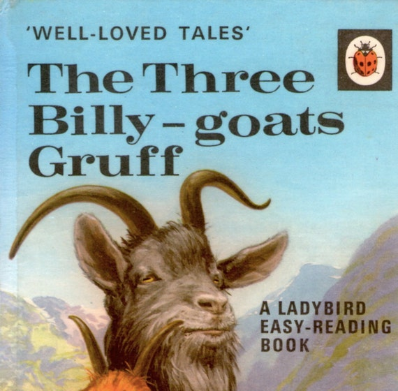 """Vintage Ladybird book """"The Three Billy Goats Gruff"""". 1968, in good used condition"""