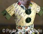 Reserved for Vintage Paris Market  Mixed Media Paper Dress Sculpture - Julia