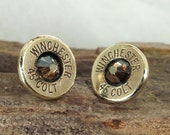Bullet  Earrings- Stud Earrings - Ultra Thin - Colt 45 - Copperhead