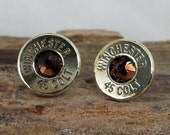 Bullet Jewelry -  Winchester Colt 45 Bullet  Earrings  - Ultra Thin - Colt 45 - Old Smokey
