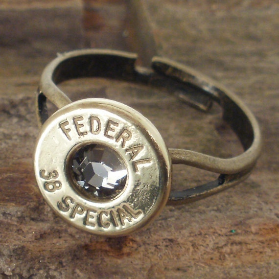 Bullet Ring - Black Diamond  - Federal 38 SPL
