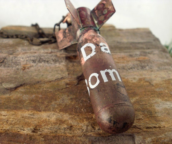 Da Bomb - Rear View Mirror Ornament - All Brass Bomb