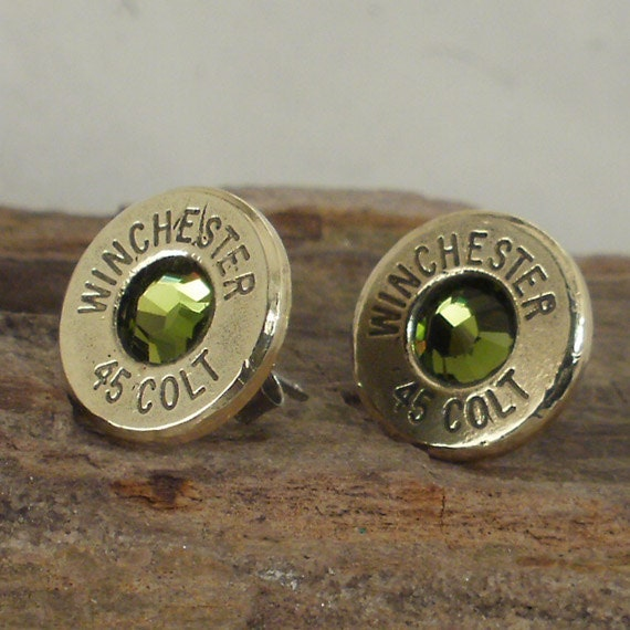 Reserved - Bullet Earring - Winchester Colt 45 - Cactus - Ultra Thin