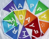 Rainbow Birthday Bunting - Rainbow Bunting - Happy Birthday - Birthday Bunting Banner Pennant - Children's Party Decoration
