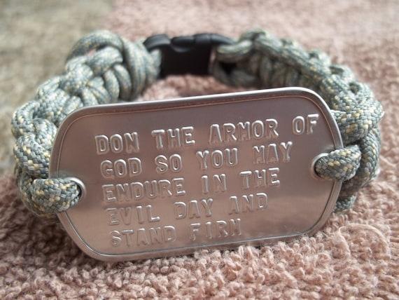 Soldier's Prayer Ephesians 6:13 Survival Paracord Bracelet