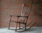 Custom-Built  Walnut Rocking Chair Commission