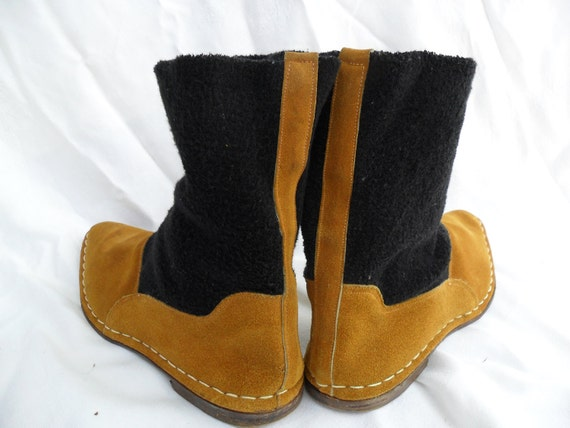 Italian Suede Boots Size 8.5