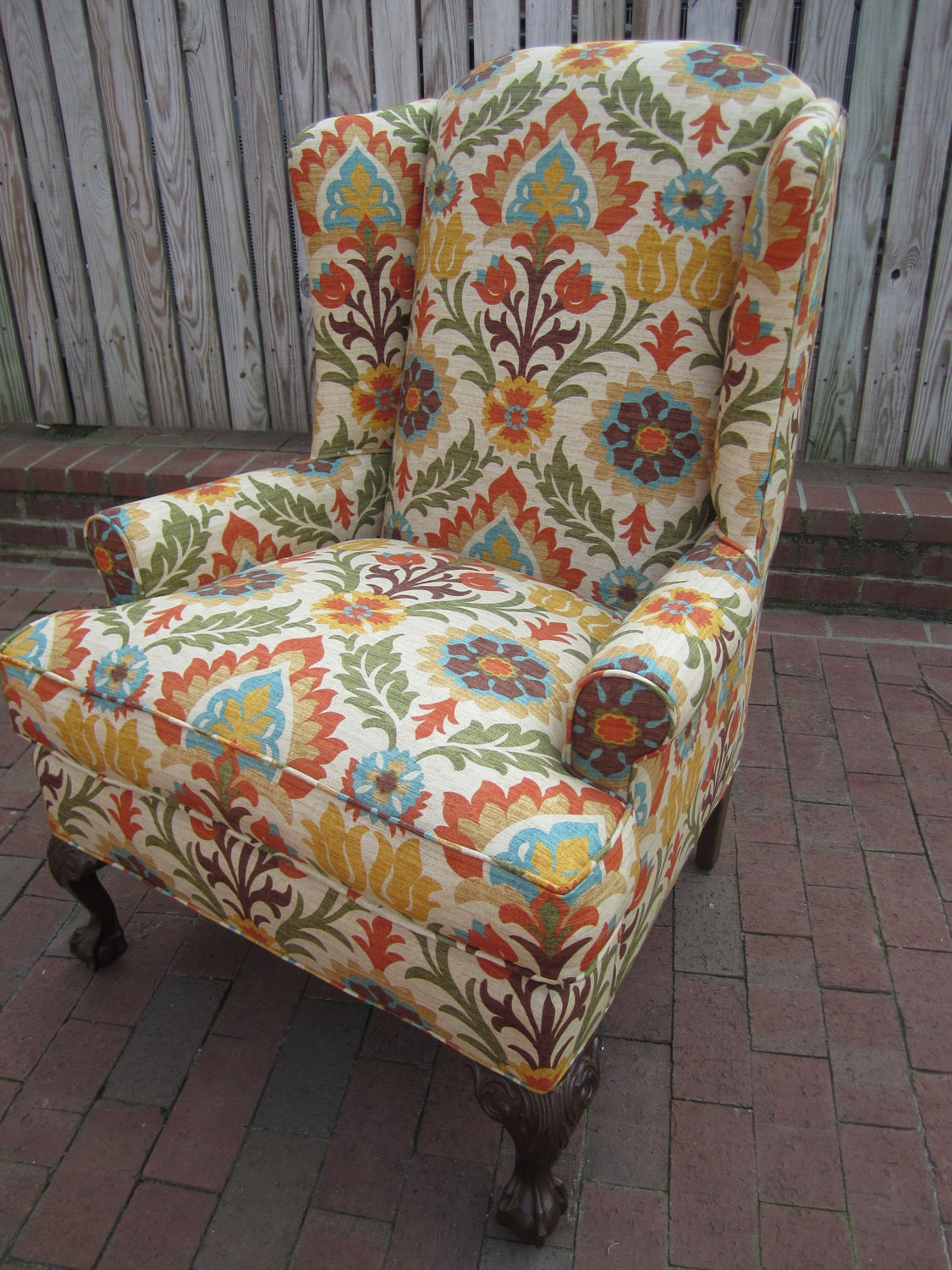 accent chair sundried floral. Black Bedroom Furniture Sets. Home Design Ideas