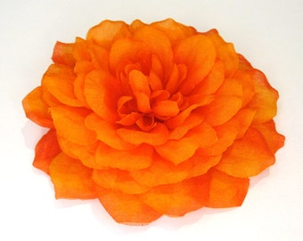 Dark Orange Dahlia - Hair Flower or Pin