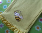 Adorable little Bumble Bee pants with ruffles size 9 months