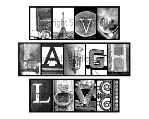 Items Similar To LIVE LAUGH LOVE Alphabet Art Letter