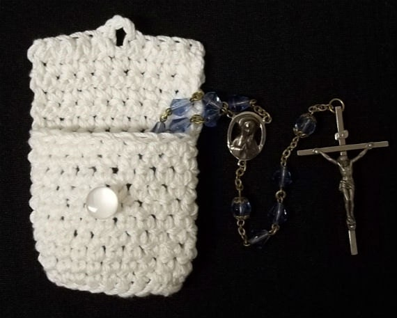Items Similar To Crocheted Rosary Pouch On Etsy