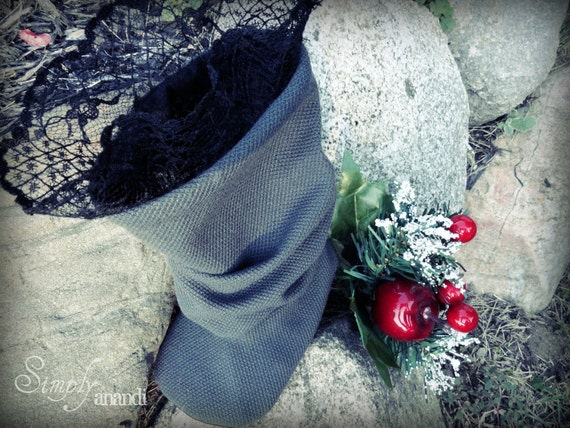 Baby Boots--Christmas boots--Charlotte--baby girl Grey Slouch boots with Lace--sizes infant through toddler