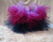 Double Layer tutu- Navy/Pink (NB thru 5t) - FREE SHIPPING and matching ponytail or crochet headband