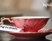 Triple Scented Soy Pink Teacup Candles - Squink Studio's Limited Edition