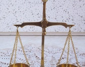 Vintage Solid Brass Scales of Justice