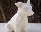 RESERVED for Marilyn Vintage Belleek of Ireland White Porcelain Scotty Dog With Green Mark  Belleek Irish China West Highland Terrior Dog