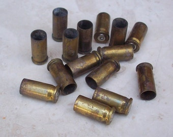 15 Brass Spent 26 Automatic Bullet Shells for Altered Art, Steampunk Jewelry Supplies