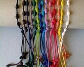7 Nylon cord Decenario Bracelets