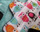 Zorb Minky Topped Set of Two 8.5 inch Mama Cloth Pads