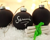 Chalkboard Ornament - Set of 3