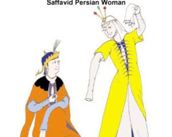 Safavid Persian Woman Pattern