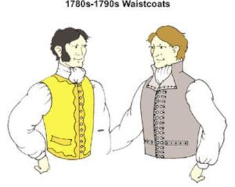 1780s-90s-Waistcoats Pattern