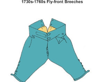 1730s-1760s Fly-Front Breeches Pattern