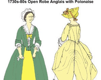 Robe Anglais with Polonaise Pattern