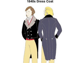 RH903 - 1840s Dress Coat Pattern
