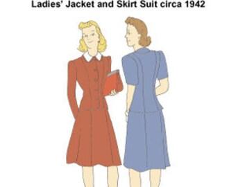 RH1403 -- 1942 Ladies' Suit Pattern