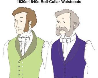 RH927 - 1830s-40s Roll-Collar Waistcoats Pattern