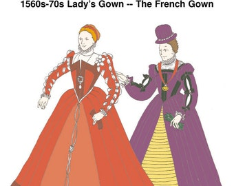 RH212 - 1560s-70s French Gown Pattern