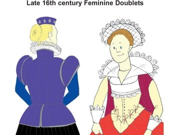 RH211 - Elizabethan Feminine Doublet Pattern