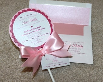 The Sweetest Lollipop Invitations