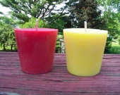 2-piece 100% SOY votive candle. Assorted Scent To Choose. Made To Order. Natural. Long Burning. Eco-Friendly.