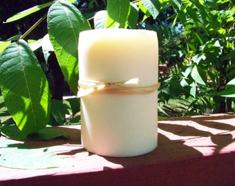 10-16oz 100% Soy Pillar Candle. Choose Your SCENT and COLOR.  Heavily Scented. Natural