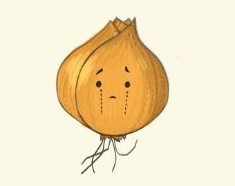 onion art print  // Lovely vegetables series // 6x8 print
