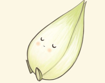 endive art print // Lovely vegetables series // 6x8 print