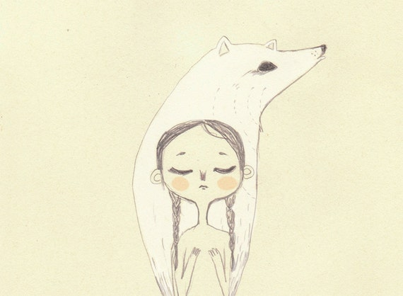A5 print // Anirniq, the inner spirit // Inuit myth series // 6x8