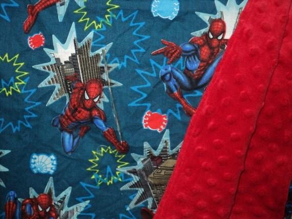 CUSTOM ORDER FOR James - Spider-man Baby Blanket - Security Blanket - Minky Superhero Lovey