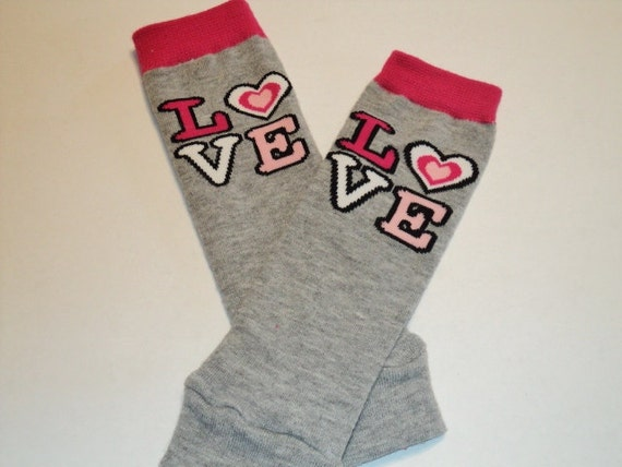 Baby Leg Warmers, Baby Girl Leggings, Toddler Leggings, Baby Girl Leg Warmers, Love Leggings