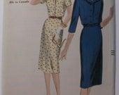 Vintage Vogue Pattern 9840 1959 Dress Size 14